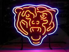 "New Chicago Bears Logo Football NFL Neon Light Sign 18""x14"""