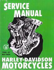 1940-1947 Harley Big Twin Service Repair Workshop Shop Manual Book NEW 99482-47