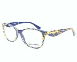 New Dolce & Gabbana DG3174 2750 54mm Blue and Gold Flake Eyeglasses RX Frames