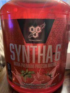 BSN Syntha 6 Whey Protein Powder,  strawberry, 5lb