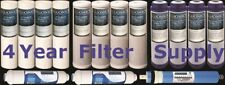 5 Stage Reverse Osmosis Replacement Filters 50 GPD Membrane 15 pcs RO Cartridges