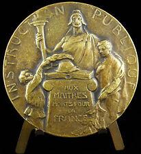 Médaille à Louis Delcros Massiac 1918 Institeur maître mort pour la France medal
