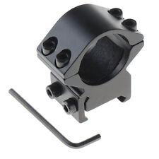 1x 25.4mm Ring weaver Picatinny 20mm rail Mount For Rifle Scope&Flashlight OT8G