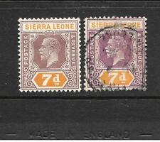 SIERRA LEONE  1921-27   7d   KGV   M&U     SG 140