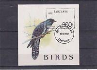 TANZANIE 1993 OISEAUX COUCOU D' EUROPE BLOC OBLITERE YT 181
