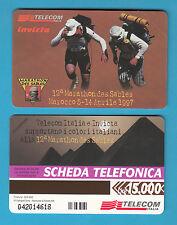 SCHEDA TELECOM GOLDEN 612 12 ° MARATONA  SULLA SABBIA NUOVA SCADENZA 30.06.99