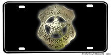 US Marshal Vintage Badge Aluminum License Plate - Badge Design