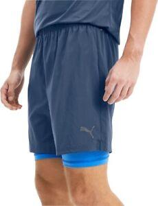 Puma Last Lap 2 In 1 Mens Running Shorts - Blue