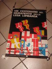 MANIFESTO ENIT VIII CENTENARIO DEL GIURAMENTO LEGA LOMBARDA PONTIDA 1967