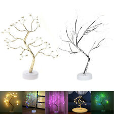 36/108LED Fire Tree Fairy Night Light Copper Wire Table Lamp Festival Room Decor