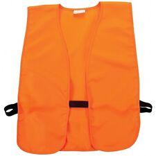 Hunting Safety Vest - Blaze Orange - Adult Size Large Adjustable Elastic Sides
