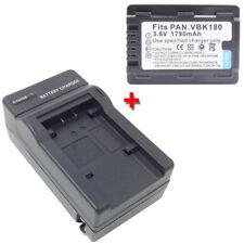 Battery&Charger for PANASONIC HC-V10 HC-V10K HCV100K HC-V500K HC-V700K Camcorder