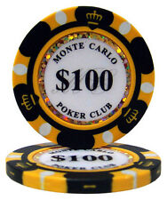 Monte Carlo Poker Chip Ball Markers - $100.00 Set of Five Ball Markers