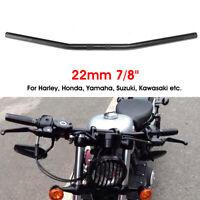 7/8'' 22mm Motorcycle Bike Drag Bar Handlebar Black For Honda Yamaha Suzuki