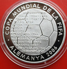 "Andorra: 10 Diners 2003 large Silber, Gem Proof-PP, #F 0907, ""World Cup"""