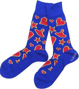 Vivienne Westwood Men Japan Wool Socks Orb Skull Star & Heart-Blue-Size 25-27cm