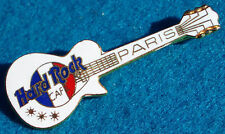 New listing Paris France French Flag Logo White Gibson Les Paul Guitar Hard Rock Cafe Pin