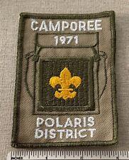 Vintage 1971 POLARIS DISTRICT Boy Scout Camporee PATCH BSA DP Uniform Badge Camp
