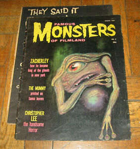 FAMOUS MONSTERS OF FILMLAND # 4  AUG. 1959  WARREN  PR