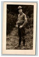 Vintage Early 1900's RPPC WW1 Soldier French UNPOSTED