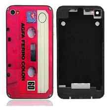 Pink Retro Cassette Tape Replacement Back Housing iPhone 4S Case Glass Cover