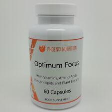OPTIMUM FOCUS | 60 Capsules | Huperzine A, NADH, L-Theanine, CDP Choline, 5-MTHF
