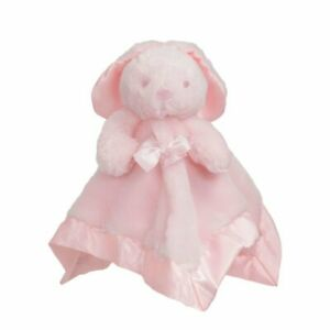 Baby Pink Bunny Plush Comforter with Bow