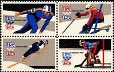 1980 15c Winter Olympics, Lake Placid, Block of 4 Scott 1795-98 Mint F/VF NH