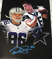 DALTON SCHULTZ Autographed Signed  DALLAS COWBOYS 8x10 Photo ROOKIE TE Gdst C