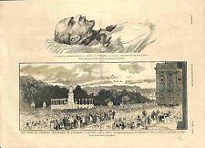 Centenaire Calderon à Madrid Espagne/Assassinat Seguin Béja Tunisie GRAVURE 1881