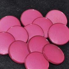 Mercerie lot de 6 gros Boutons plastique rose foncé 26mm button