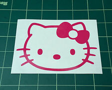 2x Stickers Decals HELLO KITTY Pink fit cars, bus, lorry, tablets, wall and more
