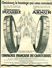 Publicité Ancienne  Pneu DUCASBLE - ARMUR 192  P 34  Puybelle No 88