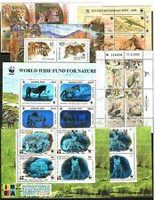 Francobolli WWF animali Kyrgyzstan Russia Mongolia Indonesia Israele