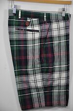 M's Ralph Lauren POLO GOLF, LT.WT. Cotton Overside-Plaid Link-fit Short. Size 32