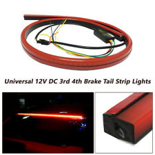 DC 12V LED Rear Windshield High Mount 3rd 4th Brake Tail Sequential Strip Lights