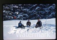 1960s  Kodachrome Photo slide skiers Skiing Europe #11