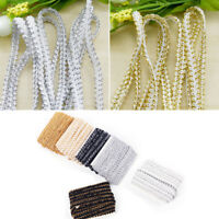 5M/lot Trim Sewing Lace Gold Silver Centipede Braided Ribbon Clothes Accessories