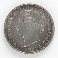 1858 Canada 20 Cent Silver Victoria Km4 - 91291h