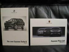 2 x Porsche Price Lists for the Cayenne Model Range 2006.
