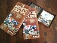The Acoustic Folk Box - 4 Disc Box Set 4x Cd Perfetti + Book Spedizione in 48 H