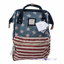 Anello Official USA Flag Japan Unisex Fashion Backpack Rucksack Diaper Bag