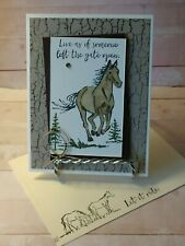 Stampin up- LIVE WITH THE GATE OPEN- Handcrafted-  Card Kit-Set of 4*
