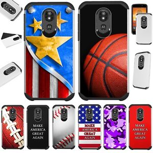 FUSION Case For Motorola Moto G7 Series Phone Cover L12 +TEMPERED GLASS