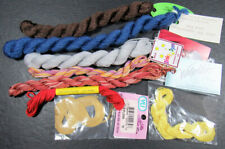 8x Needlepoint/Embroidery THREAD Various solid & overdyed silk & silk/wool-RS1