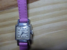 MONTRE MOVADO RUBY dots Dial SWISS art deco 1930s vintage watch acier