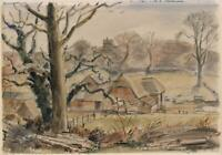 HARRY MORLEY (1881-1943) Watercolour Painting A DORSET FARM 1941
