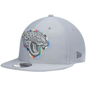"""Youth Jacksonville Jaguars NFL New Era """"Crucial Catch"""" 9FIFTY Snapback Cap-Gray"""
