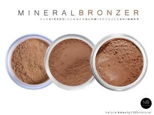 Natural Mineral Bronzer Makeup Loose Powder Long Lasting Face Full Cover