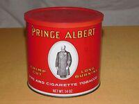 "VINTAGE 5"" HIGH PRINCE ALBERT PIPE & CIGARETTE TOBACCO TIN  *EMPTY"